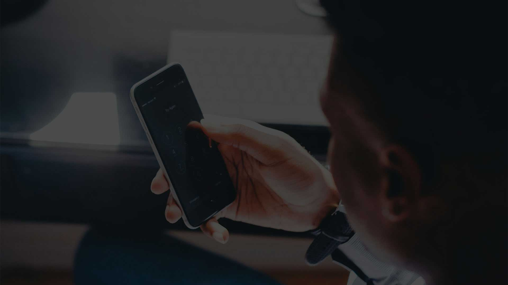 Website Design on Mobile Phone